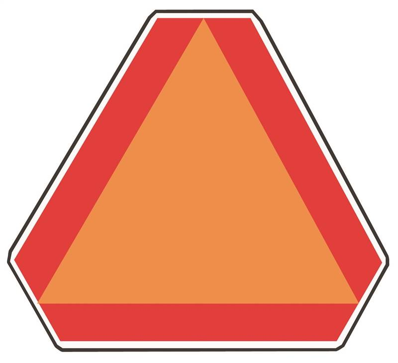 Big Slow Moving Tractor Sign : Hy ko ta slow moving vehicle emblem highway sign in w