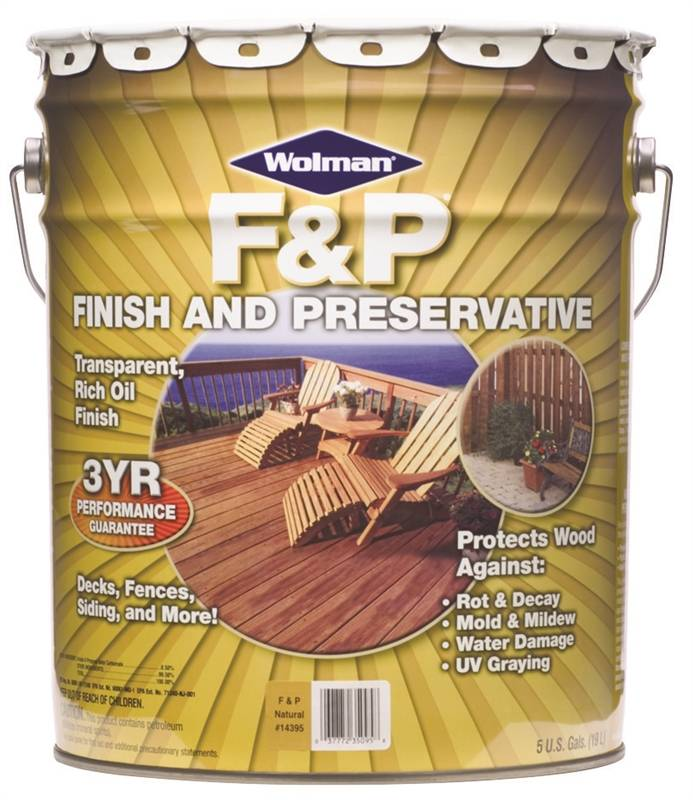 F Amp P 14395 Oil Based Wood Preservative 5 Gal Container