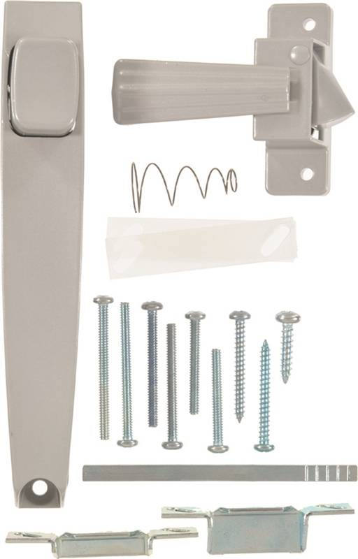 Hampton V333 Pushbutton Latch With Tie Down Handle Aluminum