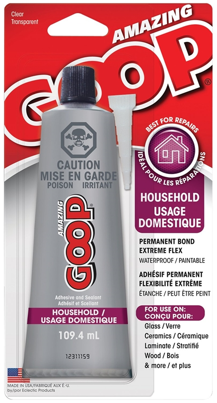 Eclectic amazing goop household adhesive 109 4 ml tube for Household cement