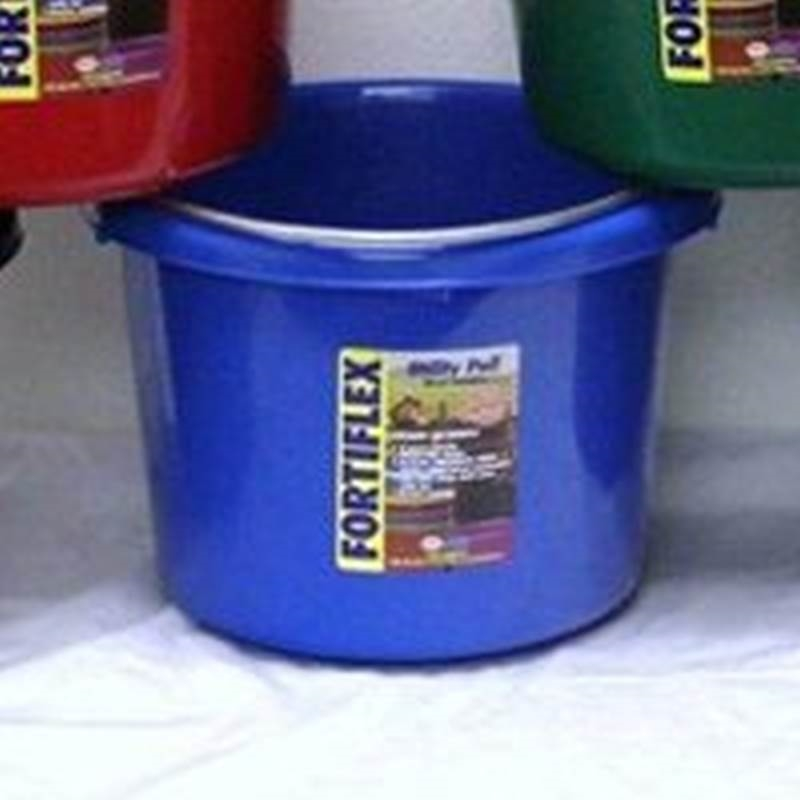 Large Rubber Horse Water Tubs: Fortex/Fortiflex 1304840 Utility Pail, 8 Qt, 10 In W X 8