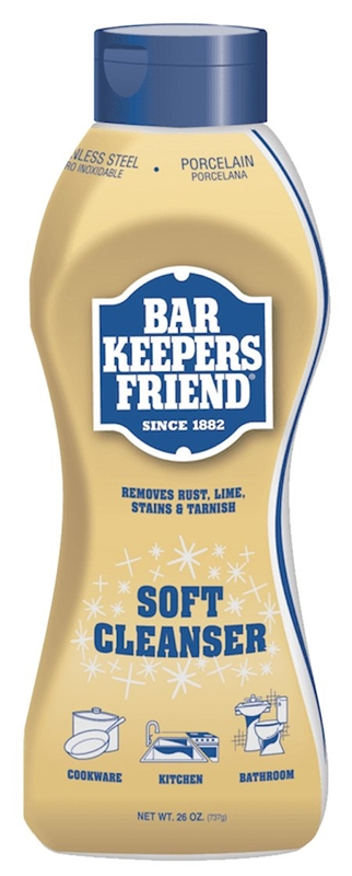 bar keepers friend 11626 anti bacterial bath kitchen cleaner 26 oz bottle white liquid citrus. Black Bedroom Furniture Sets. Home Design Ideas
