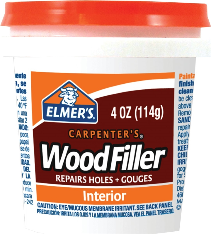 Elmer 39 s carpenter 39 s wood filler pt light tan Wood filler for exterior wood patching