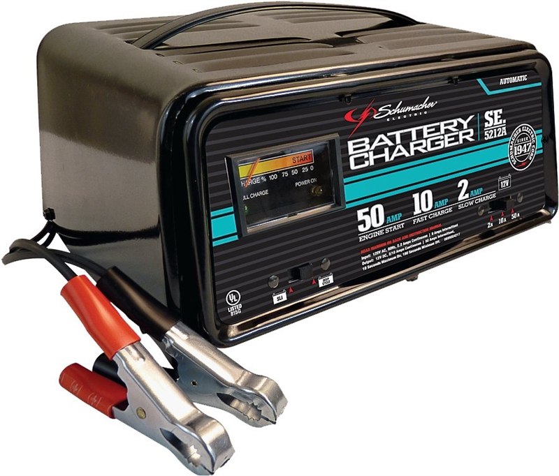 Schumacher SE-5212 Fully Automatic Battery Charger, 2 - 12 hr