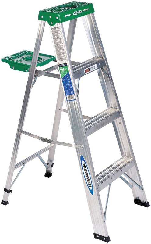 Werner 354 Single Sided Step Ladder With Pail Shelf 225