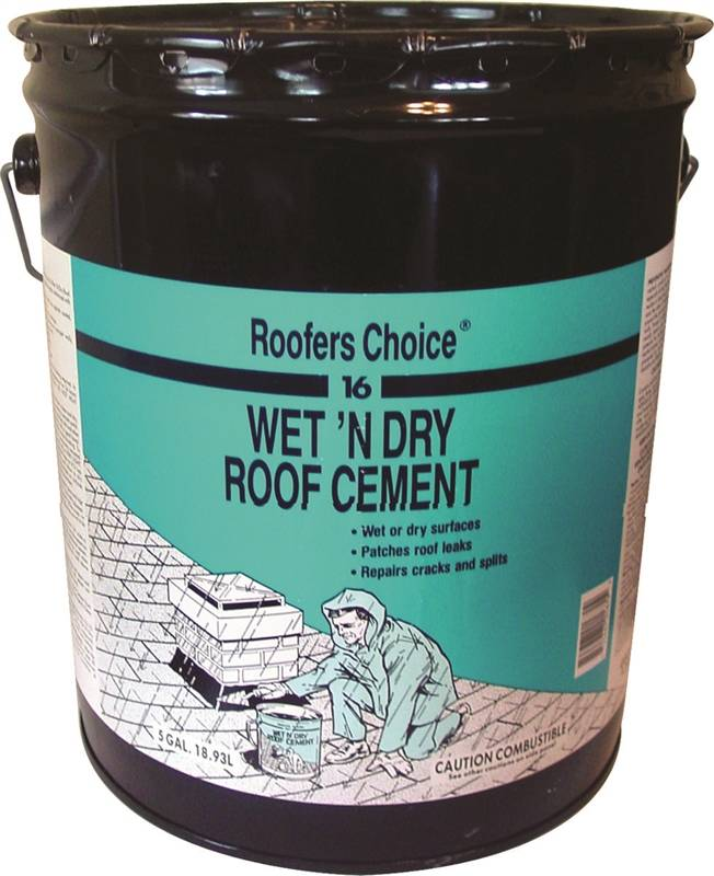 Roofers Choice Rc016070 Fibered Dry Wet Roof Cement 4 75