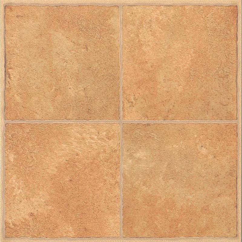 Mintcraft cl3681 self adhesive 4 square floor tile 12 in for Vinyl square floor tiles
