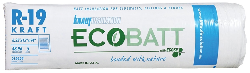 Knauf insulation pr115 bo9e wood frame fiberglass for 6 fiberglass insulation r value