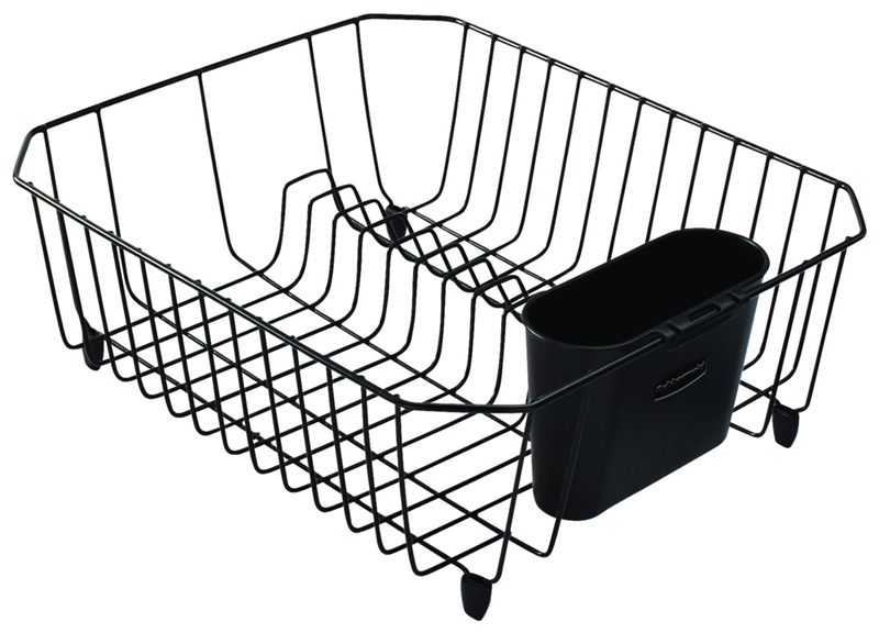 dish drainer small black