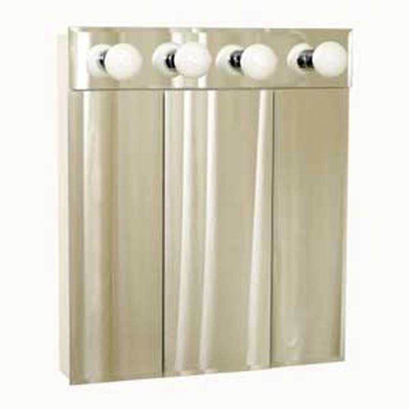 Zenith Bathroom Cabinets: Zenith TM50 Beveled Mirror Frameless Tri-View Medicine