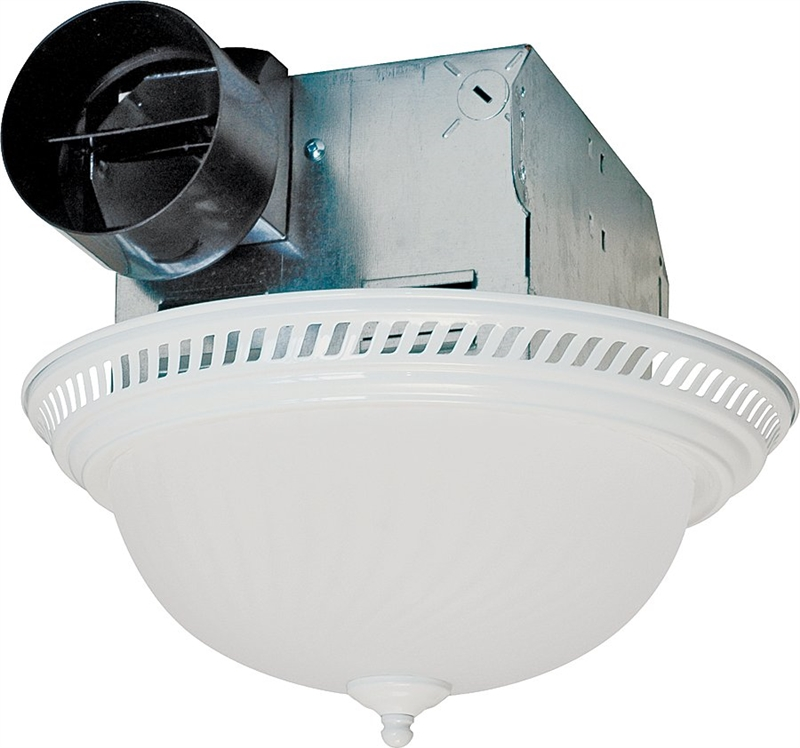 Air King Drlc703 Decorative Round Exhaust Fan Light Combo 2 60 W 12 V 1 6 A 70 Cfm
