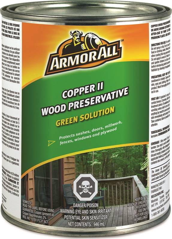 Recochem 33 691arm Armor All Copper Ii Wood Preservative Exterior 946ml