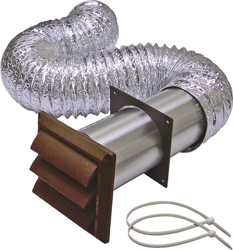Lambro b louvered dryer vent kit pieces in ft