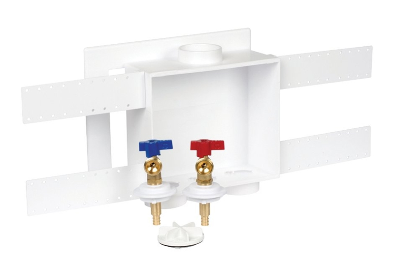 oatey washing machine outlet box pex connection