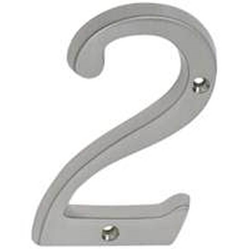 Schlage sc2 3026 619 classic house number 2 for Classic house numbers