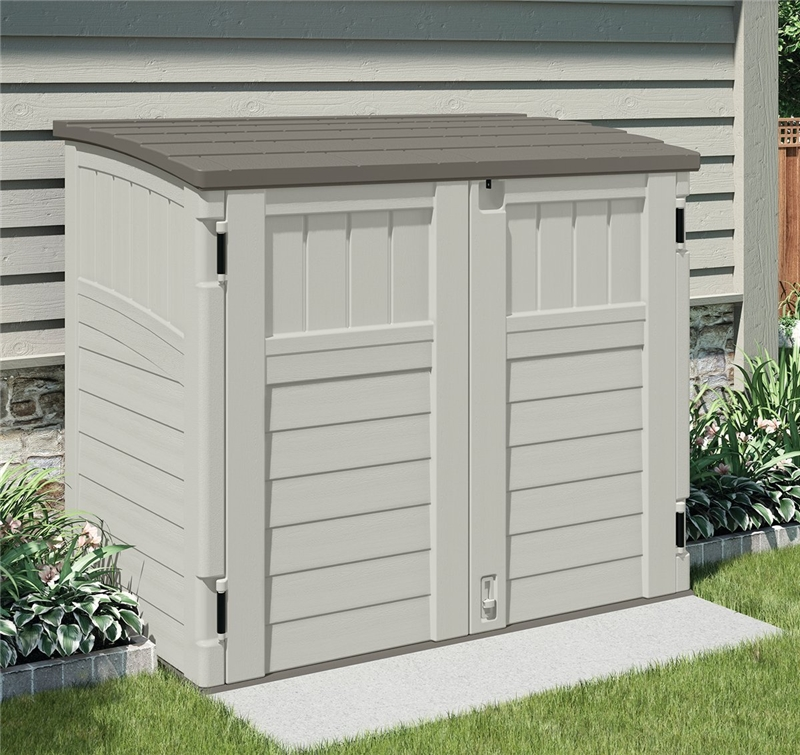 Suncast bms2500 horizontal storage shed 2 ft 8 1 4 l x 4 for Horizontal storage shed