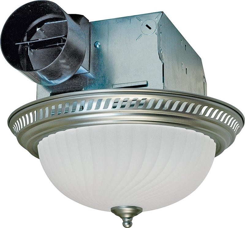 Air King Drlc702 Decorative Round Exhaust Fan Light Combo 2 60 W 120 V 1 6 A 70 Cfm