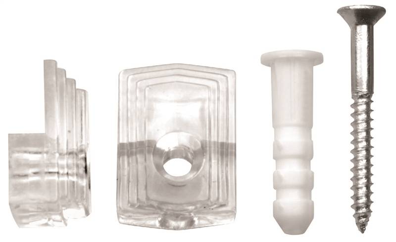 Ook 50224 Mirror Holder Set Plastic Steel Clear