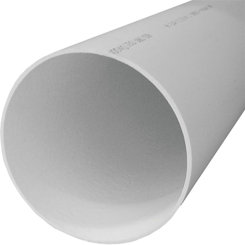 Genova 40040 solid sewer pipe 4 in dia x 10 ft l pvc for Sewer drain pipe
