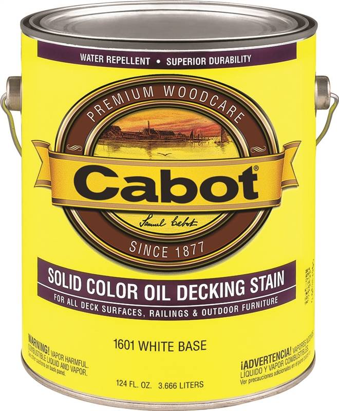 Cabot 1600 Oil Based Solid Color Decking Stain 1 Gal Container White Base