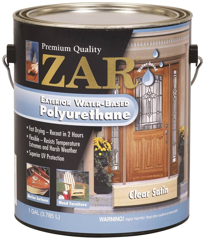 Polyurethane wtr ex voc sat ga case of 2 for Zar exterior water based polyurethane