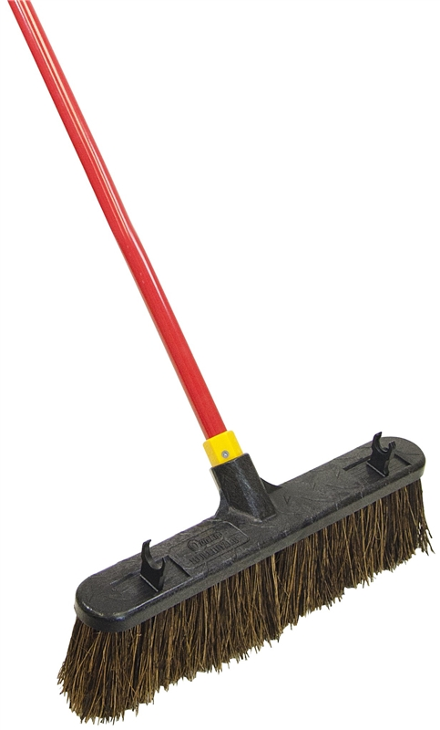 quickie 00526 rough sweep push broom with handle stiff palmyra fiber bristle 18 in resin block. Black Bedroom Furniture Sets. Home Design Ideas