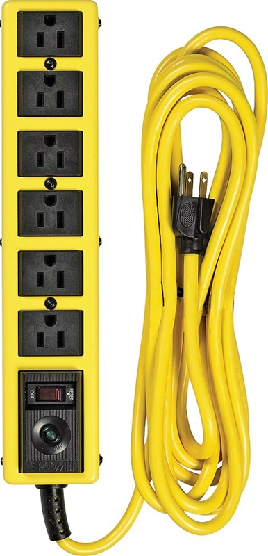 Coleman 5138 Grounded Heavy Duty Metal Surge Protector 6
