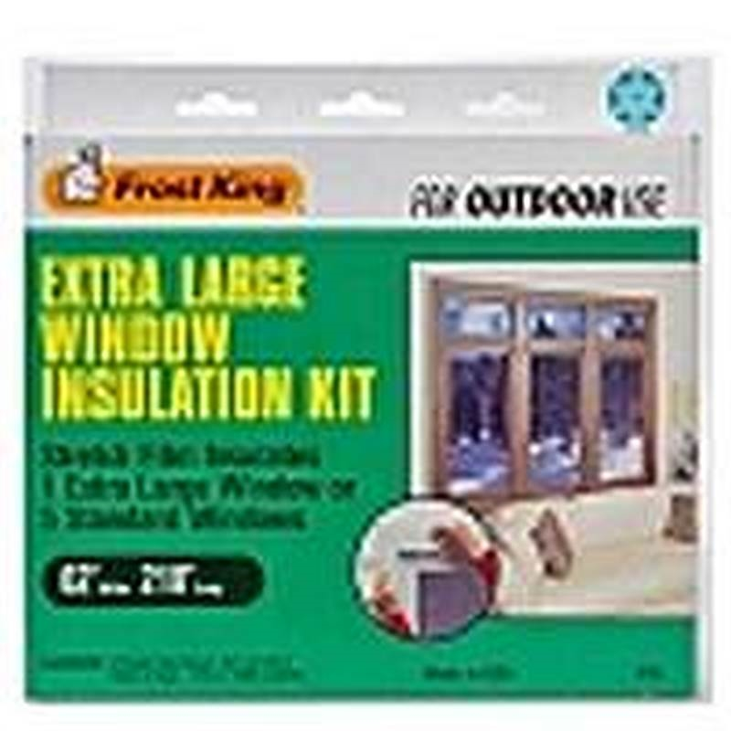 Frost king v95 outdoor stretch nail on extra large window for Window insulation rating