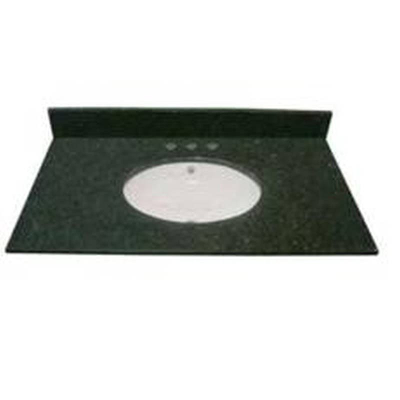 Luxo Marbre Pgr31x224ubaw Vanity Top 31 In L X 22 In W Porcelain Black Green With White
