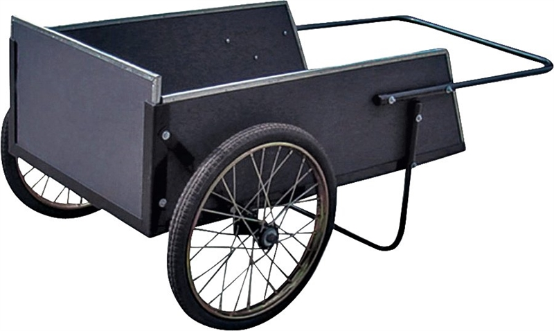 Vulcan Ytl22105 Weather Resistant Yard Cart 42 1 2 In L X 12 6 In W X 24 4 In H 7 Cu Ft Steel Frame Wood Box