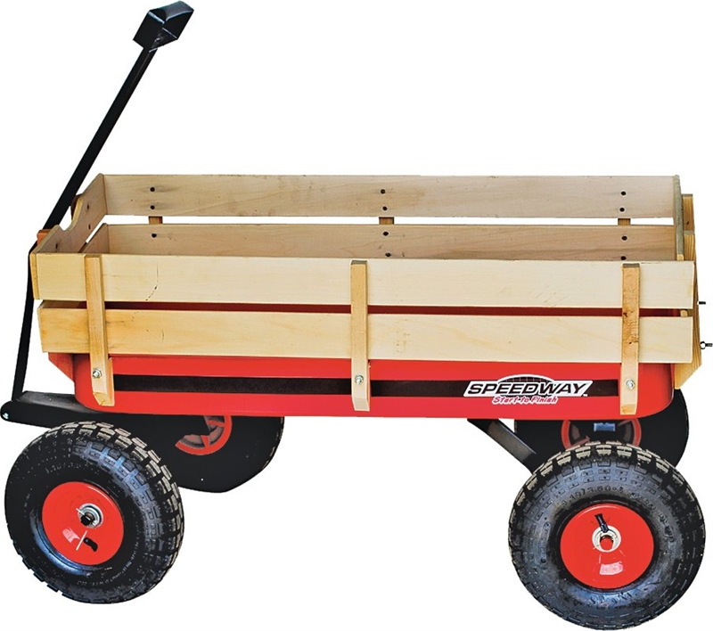 Big Red W: Speedway 52178 Big Wagon Toy With Wood Panels, 200 Lb, 10