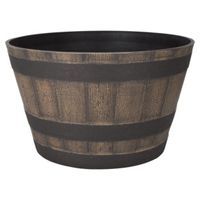 PLANTER BARREL DARK/OAK 20.5IN