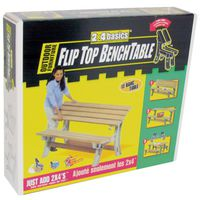 Hopkins 90110 Comfortable Flip Top Bench Table