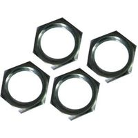 LOCK NUT 1/4IN GRNDR BRS 6/PK