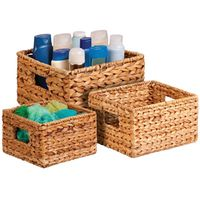 BASKET NESTING BANANA LEAF 3PC