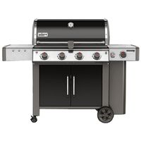 GRILL LP BLK 4-BURNER W/SIDE