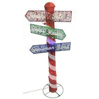 SIGN POST CHRISTMAS 60IN LED