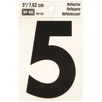 Hy-Ko RV Reflective Weather Resistant Number Tag