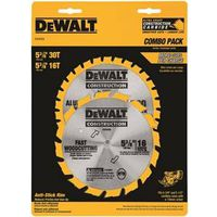 Dewalt DW9058 Combination Circular Saw Blade Set
