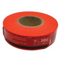 TAPE FLAGGING 1INX200FT ORNG