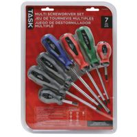 SET SCREWDRIVER 7PC ASSORTED