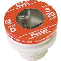 Bussmann S-20 Low Voltage Tamper Proof Time Delay Plug Fuse