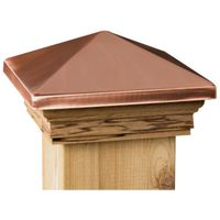 Marine Ornamental 106579 High Point Top Post Cap with Cedar Wood Base