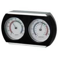 HYGROMETER INDOOR SILVER/BLACK