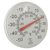 THERMO DIAL OUTDR 12IN WHT