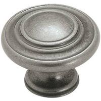 Amerock Inspirations BP1586WN 3-Ring Round Cabinet Knob