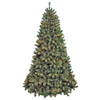 TREE 12FT PRELIT CLR NOBLE FIR
