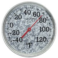 THERMOMETER GALV METAL 8IN