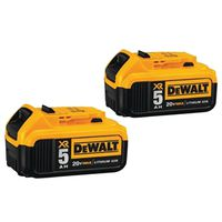 BATTERY 20VOLT MAX 5AH 2-PACK