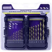 BIT DRILL TITANIUM SET 17PC